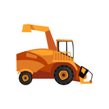 Harvester machine, combine, farm machinery vector Illustration - 192485103