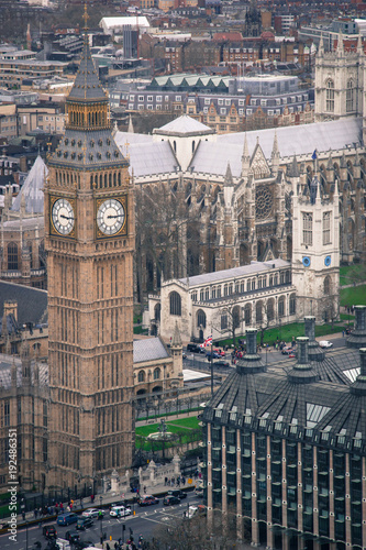 Deurstickers Londen Big Ben Westminster