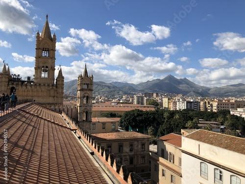 Fotobehang Palermo Palermo - panorama dal tetto della Cattedrale