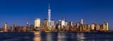 New York City Financial District skyline (Lower Manhattan) at twilight across the Hudson River - 192495112