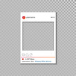 Social network vector photo frame template.