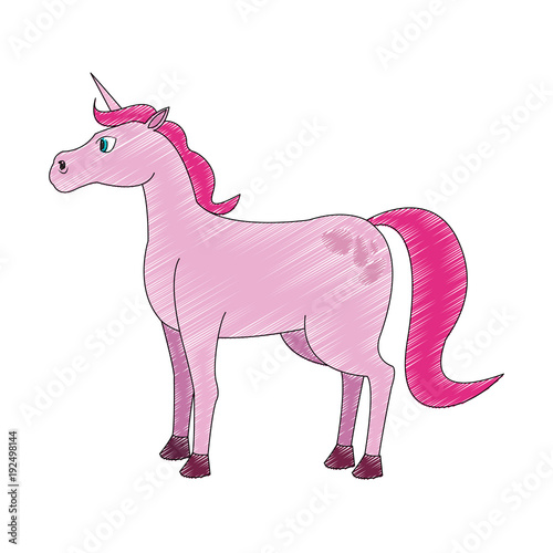Poster Pony Pony fantastic horse cartoon icon vector illustration graphic design