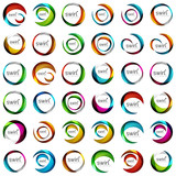 Mega set of swirl circles abstract vector icons. Circle, helix, rotation, spiral motion concepts. Vector - 192504988