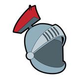 Medieval warrior helmet icon vector illustration graphic design - 192509565