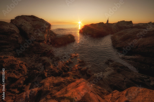 Foto op Aluminium Zee zonsondergang Morning view