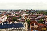 Aerial view of old town in Tallinn, Estonia - 192516939