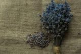 Lavender bouquet. Rustic concept photo. - 192525197