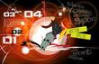 Skateboarder jump, sport background - 192529784