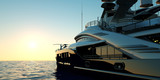 Extremely detailed and realistic high resolution 3D illustration of a luxury super yacht - 192532944