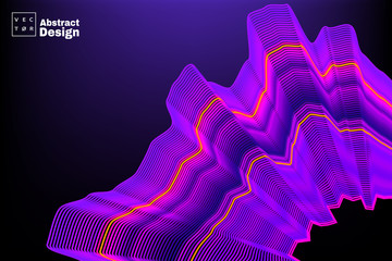 Abstract concept design electro wave. Vector illustration for motion design or broadcasting.