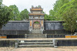 detail of the complex of the mausoleum of the emperor Tu Duc in Hue, Vietnam.