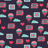 childish vector british seamless pattern - 192538349