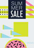 summer sale vector abstract poster with watermelon - 192538560