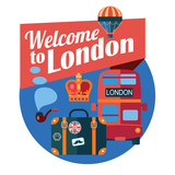 welcome to London vector color badge - 192539118