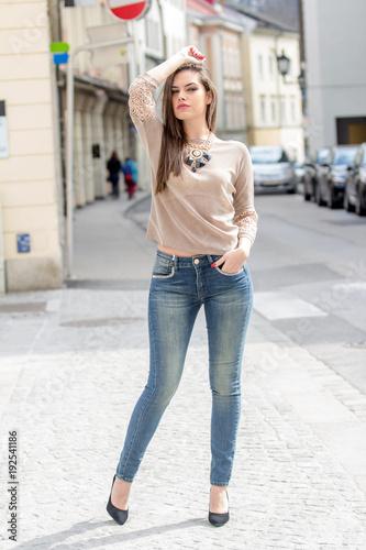 Fashionably dressed woman