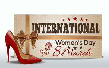 International Women's Day design. 8 March. Greeting card for Women's Day. Vector illustration