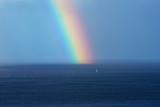 Beautiful rainbow on the ocean horizon - 192551505