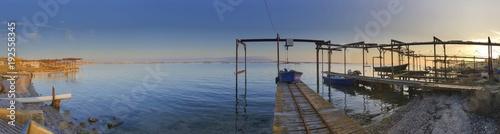 Foto op Plexiglas Panoramafoto s Panoramique des parcs à huitres