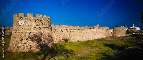 Fotobehang Cyprus Exterior view to Otello Castle at Famagusta, Cyprus