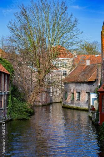 Deurstickers Brugge ブルッヘ歴史地区