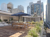 penthouse terrace in a big city. 3d rendering