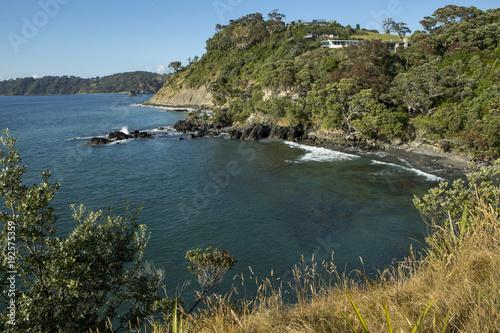 Papiers peints Bleu vert Leigh coast New Zealand. Bay