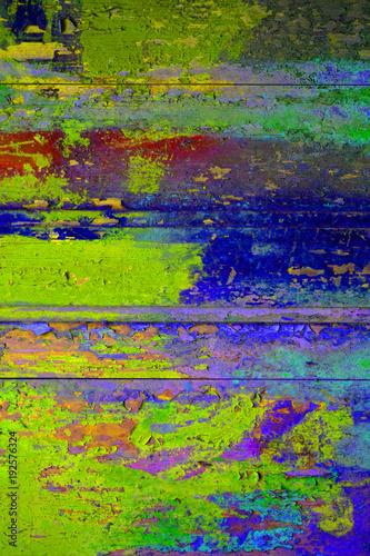 Abgeplatze Farbe gelb grün lila blau