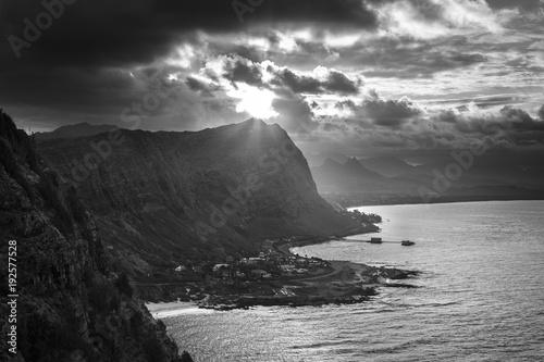 Fotobehang Donkergrijs Makapu'u Point, Oahu, Hawaii.