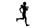 Silhouette Of A Woman Running Wall Sticker