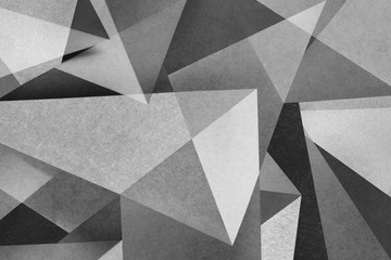 Abstract geometric with bright shapes on background