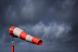 Windsock and stormy sky - storm warning - 192589183