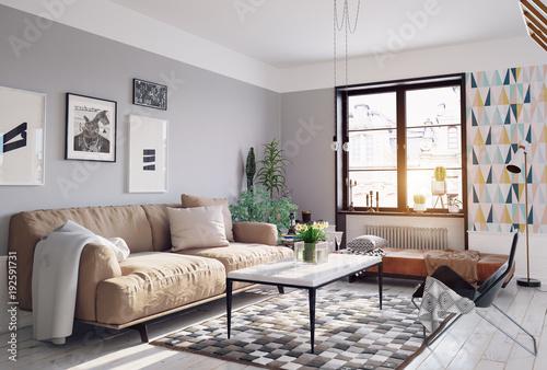 modern living room - 192591731