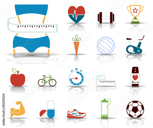 Sport, Fitness & Fun - Iconset (Farbe)