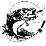 Fishing bass logo isolated - 192594524