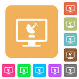 Remote desktop rounded square flat icons - 192595393