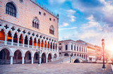 Ducal Palace on Piazza San Marco Venice landscape street lamp - 192596180
