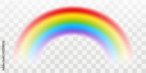 Vector rainbow with transparent effect - 192598516