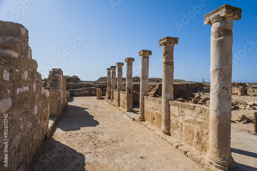 Roman Remains Pafos Cyprus