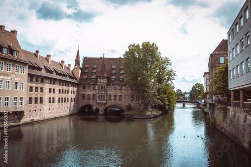 Tuinposter Brugge Nuremberg city