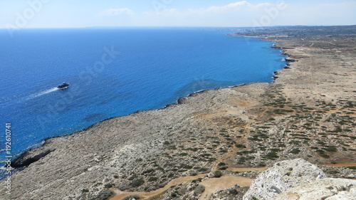 Fotobehang Cyprus View from the height of Cape Greco (Cyprus)
