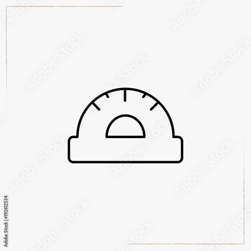 round ruler line icon