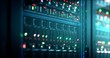 Leinwanddruck Bild - Server in datacenter. Cloud computing data storage 3d rendering