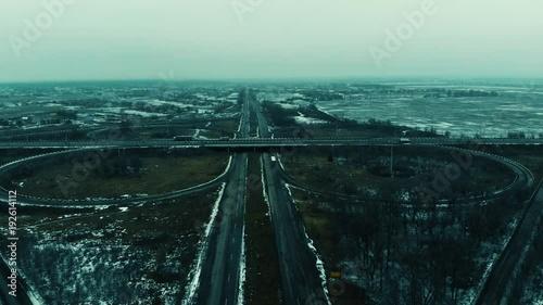 Cars, highway, autobahn Ukraine
