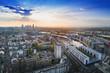 Leinwanddruck Bild - Hafen in Offenbach mit blick nach frankfurt