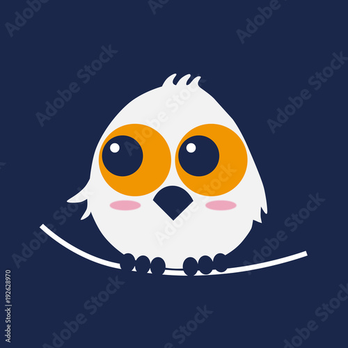 Fotobehang Uilen cartoon フクロウ owl night キャラクター イラスト vector
