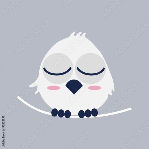 Fotobehang Uilen cartoon フクロウ owl day キャラクター イラスト vector