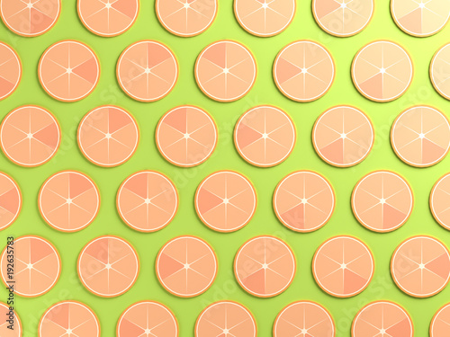 Colorful orange food background
