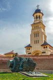 View with Bell tower from Coronation Cathedral in Alba Iulia - 192637937