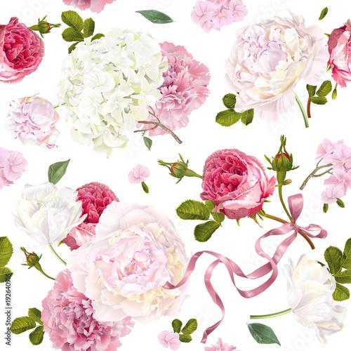 Romantic garden pattern