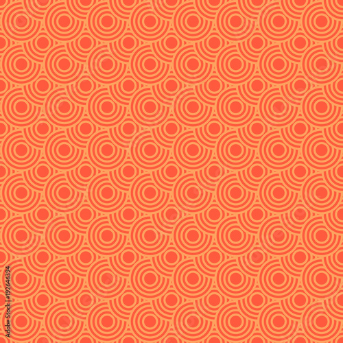Seamless/Tileable orange overlapping circles pattern